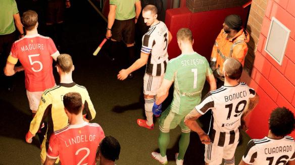 eFootball - piłkarze przygotowują się w szatni do meczu. Widać między innymi Szczęsnego - PG