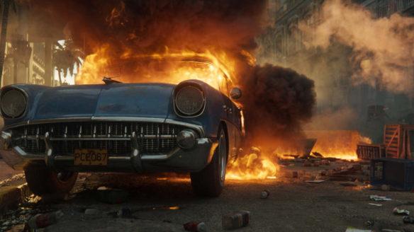 Pali się samochód.