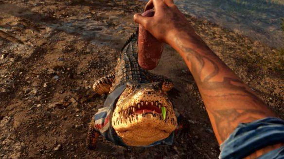 Far Cry 6 - głaskanie krokodyla