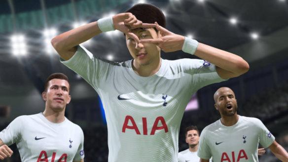 FIFA 22 - piłkarz robi cieszynkę z kadrem aparatu z palców