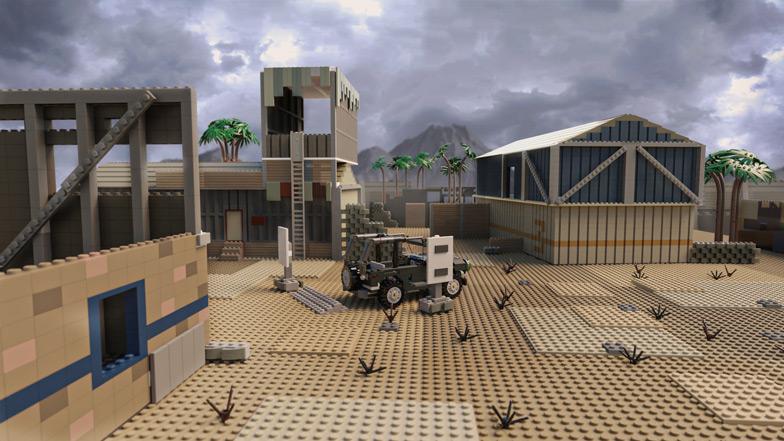 Call of Duty x LEGO - mapa Firing Range - PG
