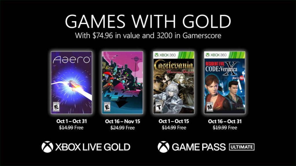 Games with Gold październik 2021 - oferta gier