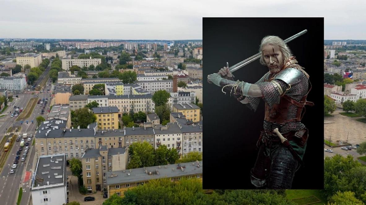 Geralt mural