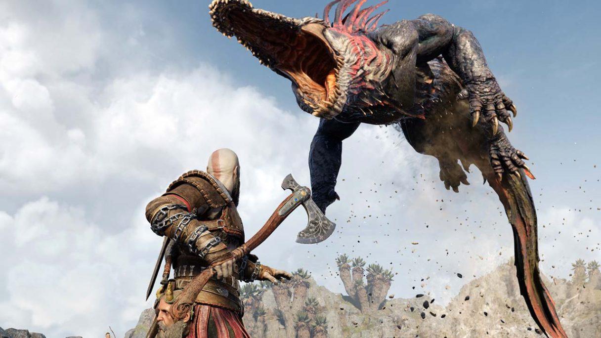 God of War Ragnarok - zrzut ekranu z walki