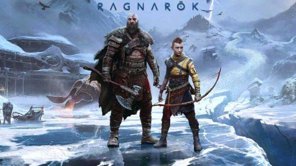 God of War Ragnarok - grafika z Kratosem i Atreusem