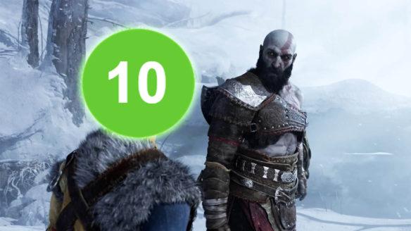 God of War Ragnarok - Kratos patrzy na dziesiątkę
