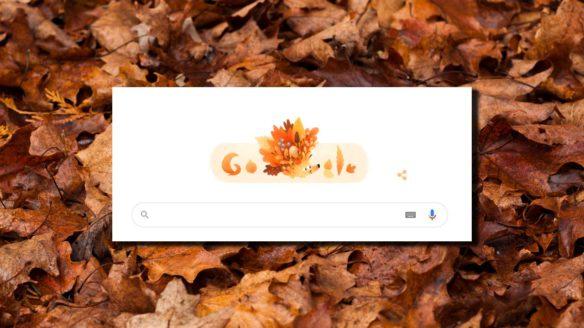 Google Doodle - jesień