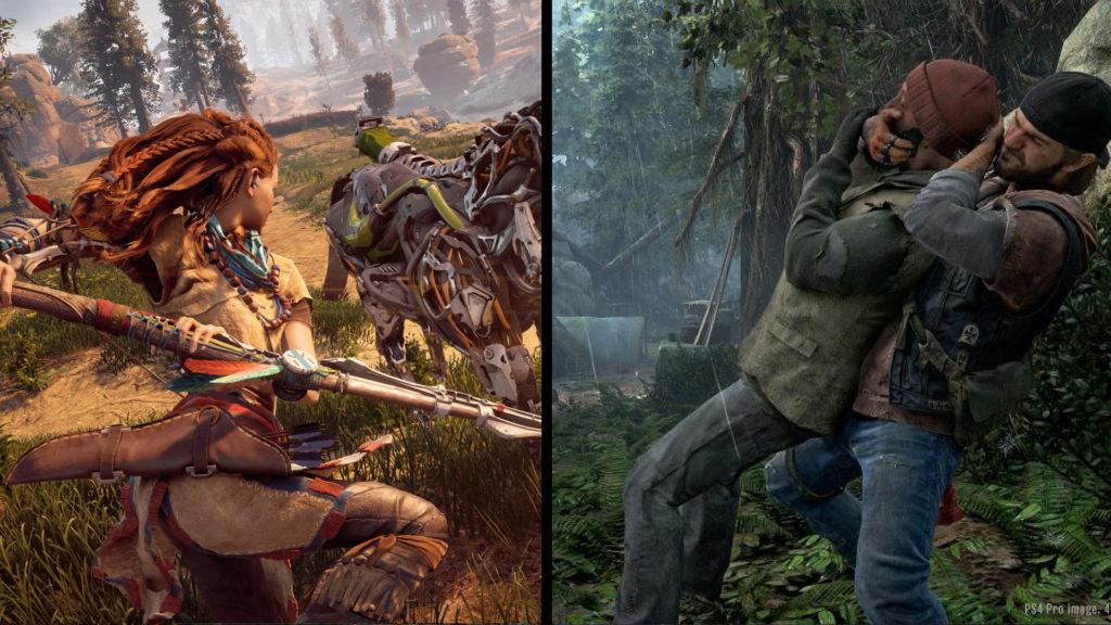 Horizon Zero Dawn i Days Gone w porównaniu grafiki