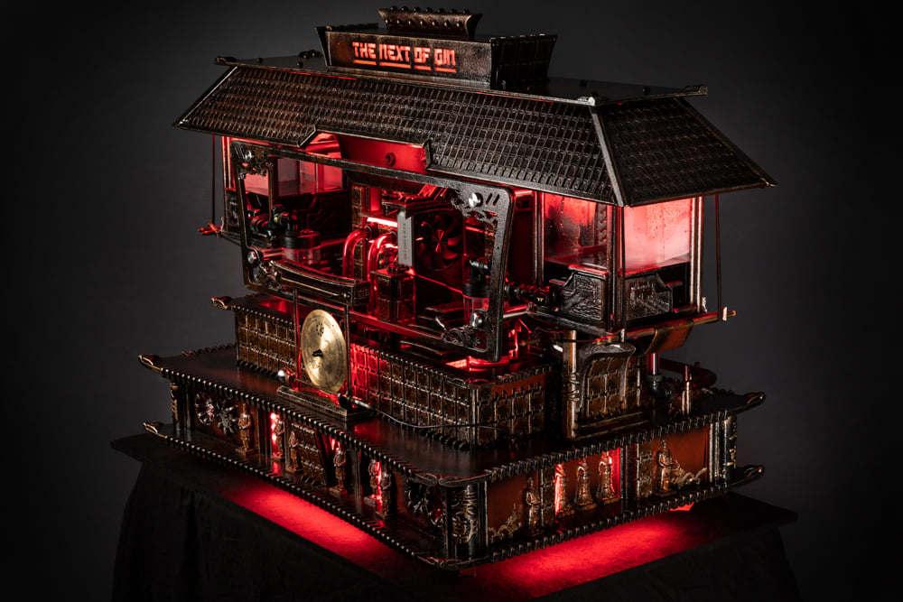 Komputer dla gracza - Nvidia - casemod wyglądający jak chiński pałac PG