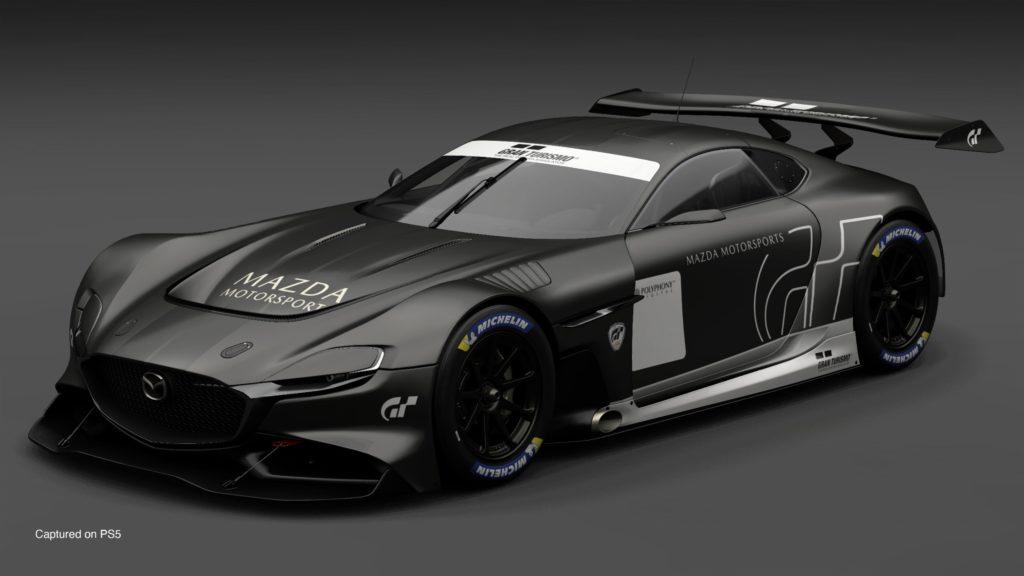 Gran Turismo 7 - Mazda RX Vision GT3 na szarym tle