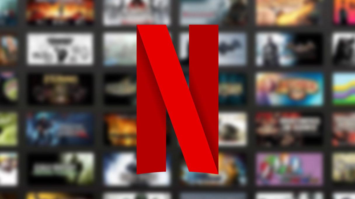 Logo Netflix na tle gier