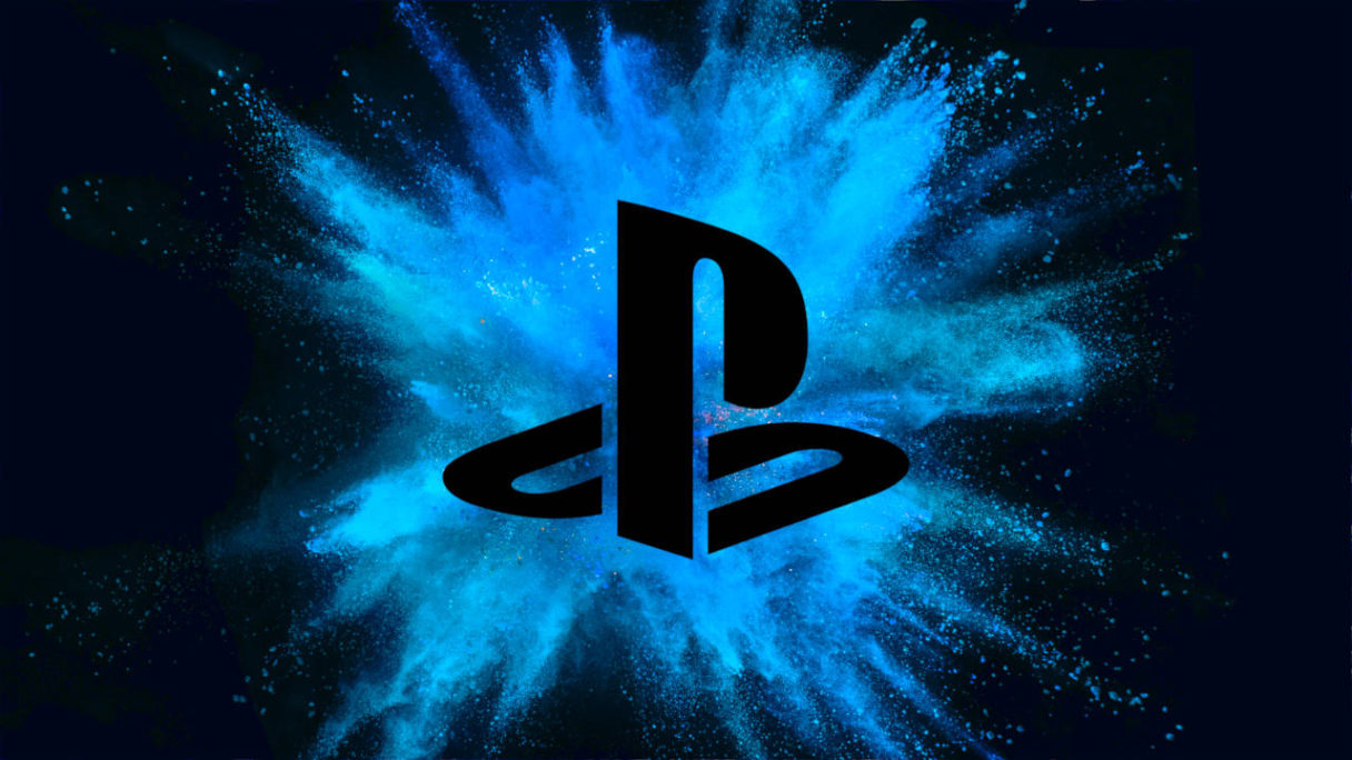 Nowe gry na PS4 i PS5 - logo PlayStation na tle niebieskiego wybuchu - PG