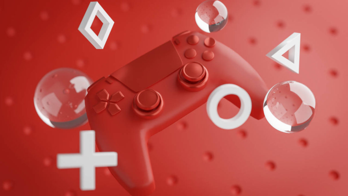 Nowe gry PlayStation - czerwony kontroler DualSense - PG