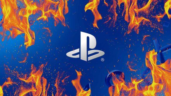 PlayStation - logo z ogniem