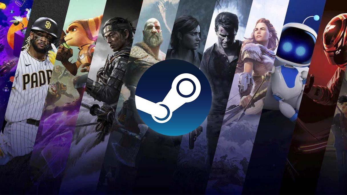 Gry PlayStation i logo Steam