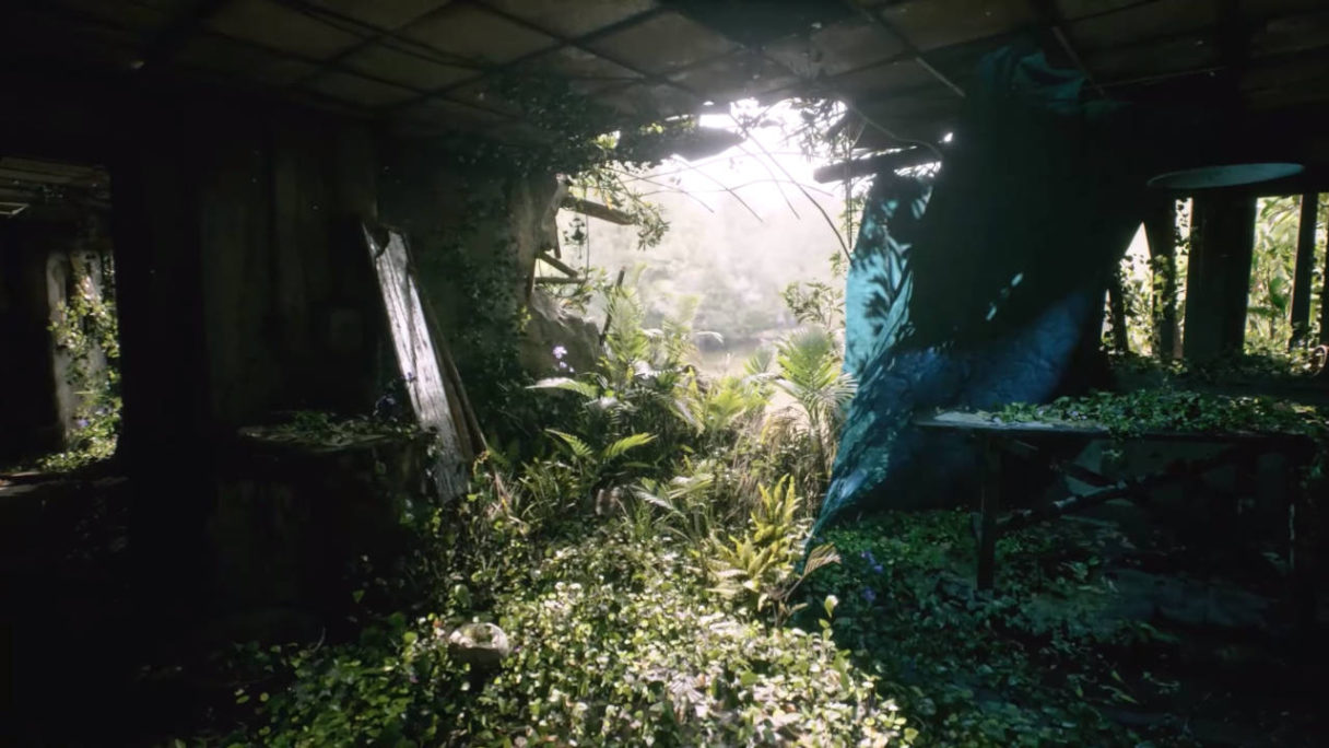 The Last of Us 2 - Unreal Engine 5 - PG - roślinność wkroczyła do opuszczonego budynku