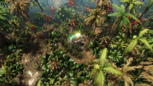 The Riftbreaker zielony teren