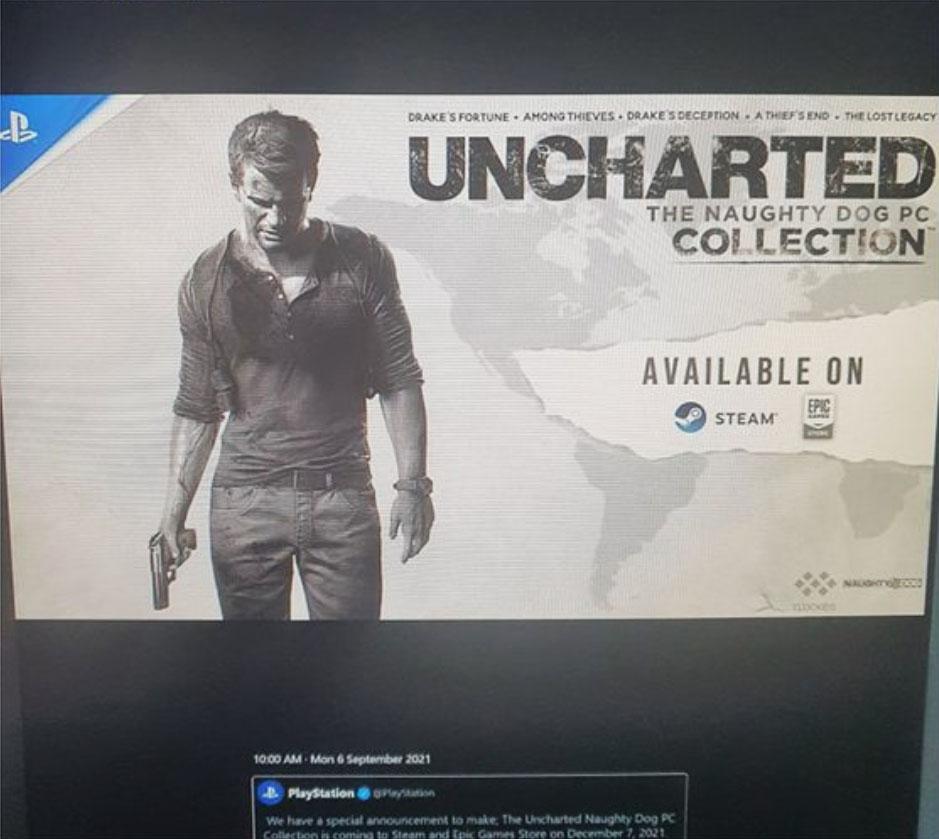 Kolekcja Uncharted na PC - przeciek
