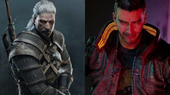 Wiedźmin 3 - Cyberpunk 2077 - Geralt i V zdenerowani
