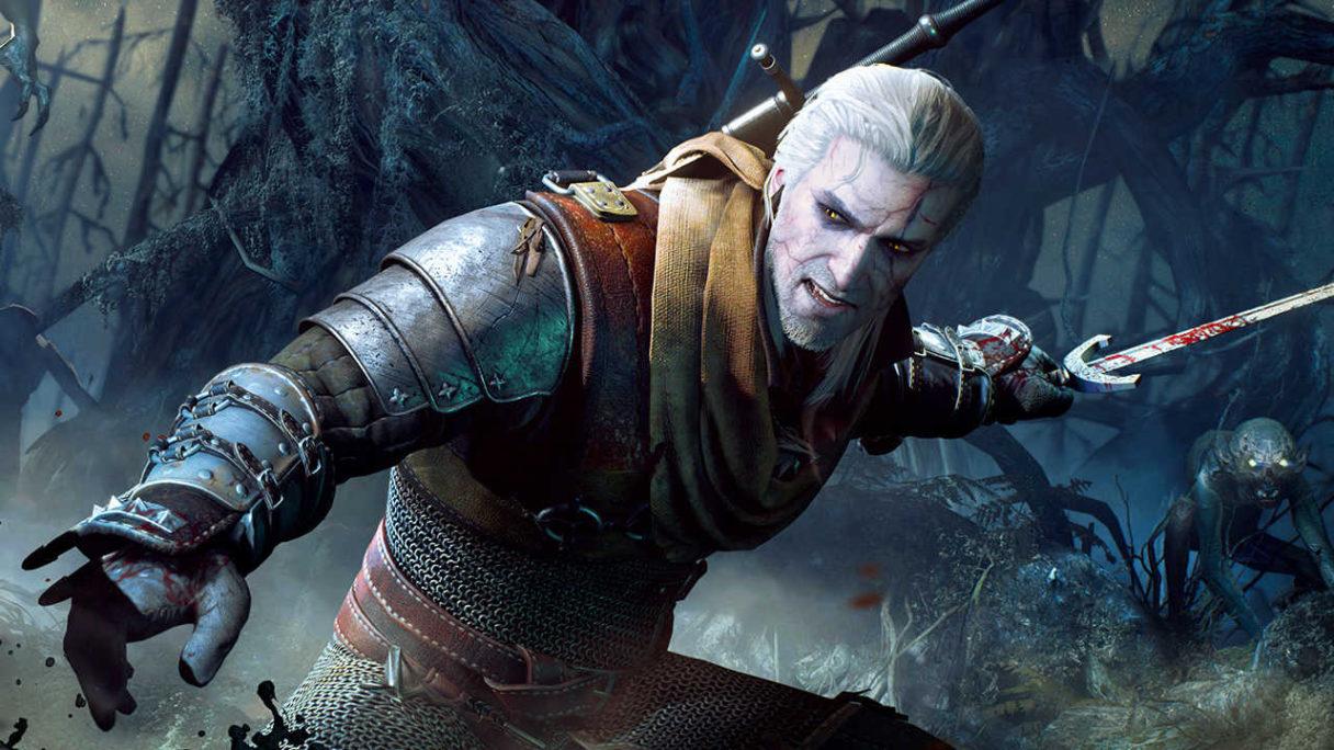 Wiedźmin 3 Dziki Gon - Geralt walczy z potworami, leje się krew- PG