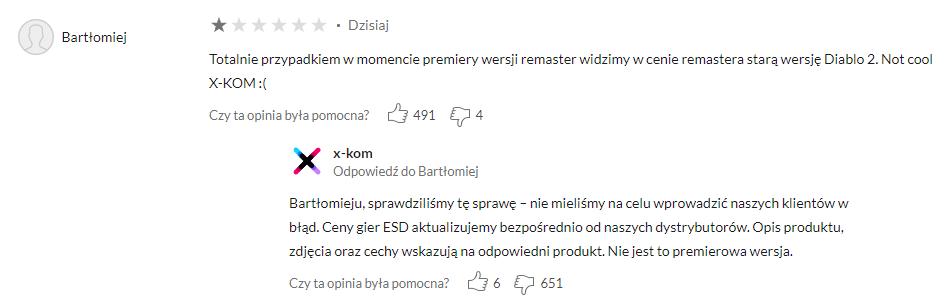 X-Kom opinia o Diablo II Resurrected