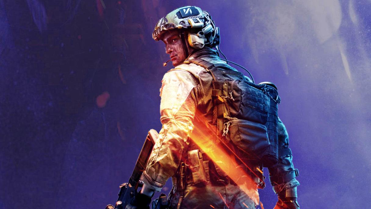 Battlefield 2042 - żołnierz z okładki na innym tle