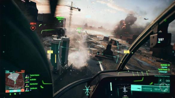 Battlefield 2042 - nowy gameplay - strzelanie z działka helikoptera