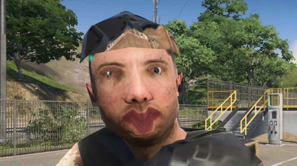 Battlefield 2042 - zbugowany żołnierz