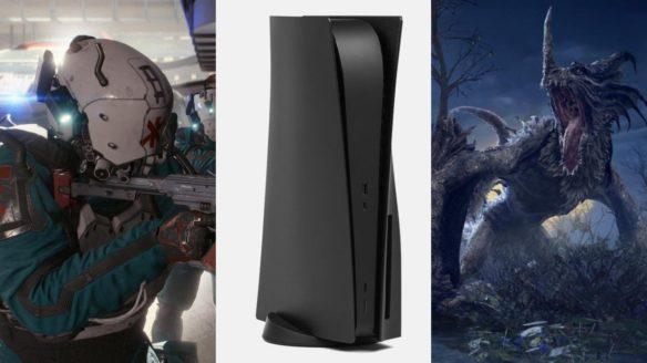 Medyk z gnatem z Cyberpunk 2077, PS5 z czarnymi panelami, smok z Elden Ring