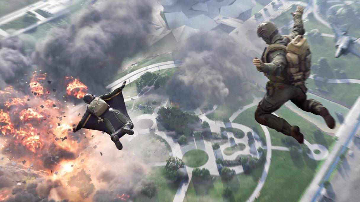 bf2042 skok ze spadochronem