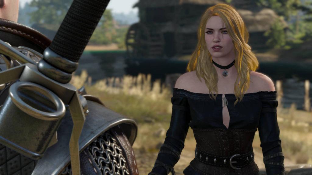 Yennefer o blond włosach rozmawia z Geraltem