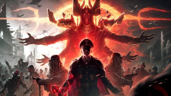 Call of Duty Vanguard tryb Zombies - grafika promocyjna - żołnierze na tle zombie i demonów