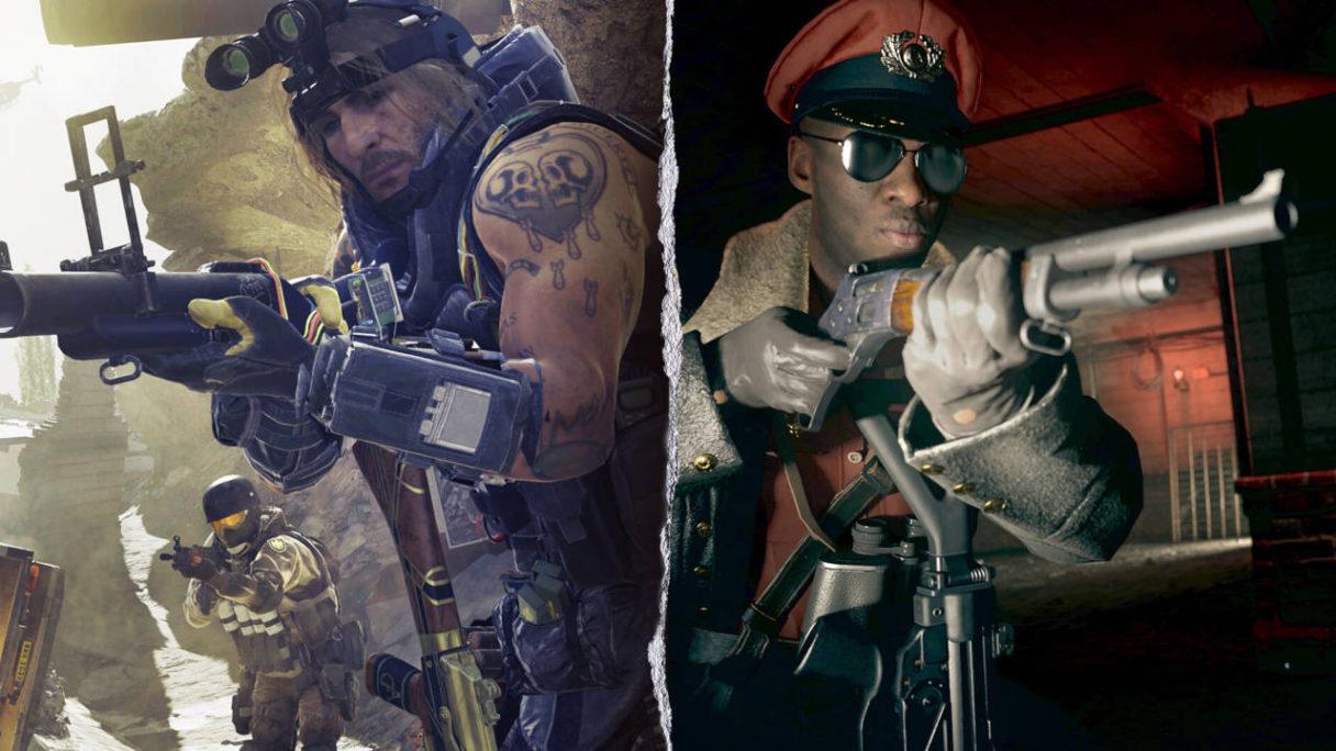 Call of Duty - żołnierze z granatnikiem i strzelbą