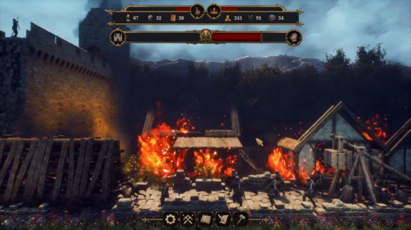 Castle Manager pożar