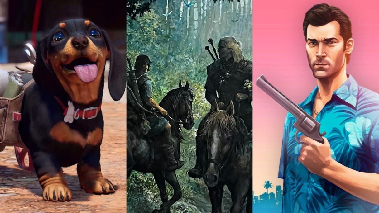 Chorizo z Far Cry 6, Wiedźmin i Thorgal na koniach oraz bohater z GTA Vice City