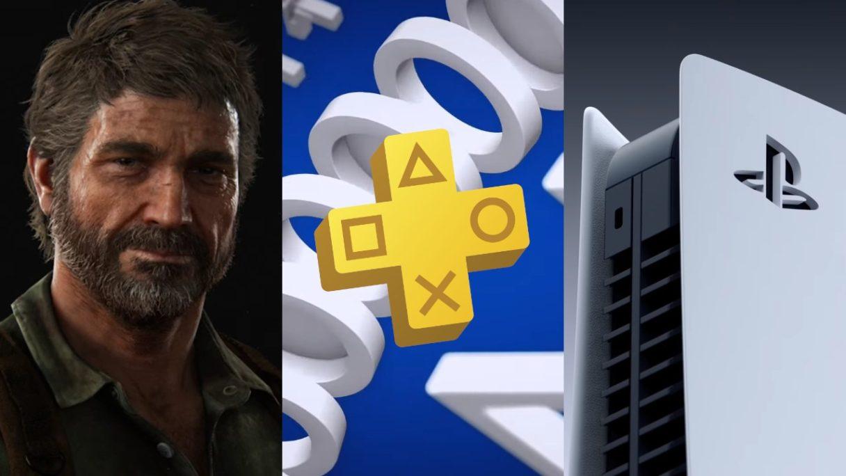 Joel z The Last of Us, logo PS Plus listopad 2021, konsola PS5