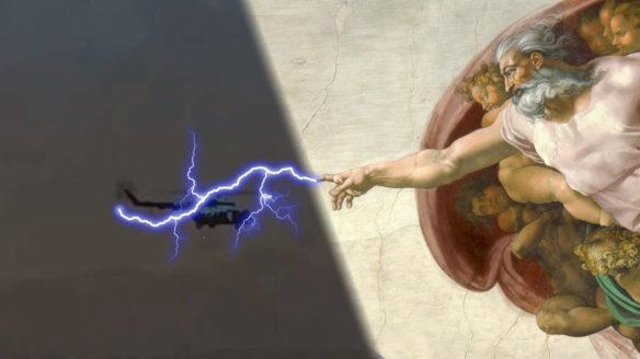 Far Cry 6 - Bóg strzela piorunem w helikopter