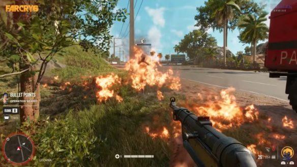 Far Cry 6 ogień