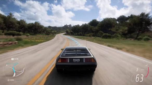 Forza Horizon 5 - DeLorean DMC-12 jedzie po drodze