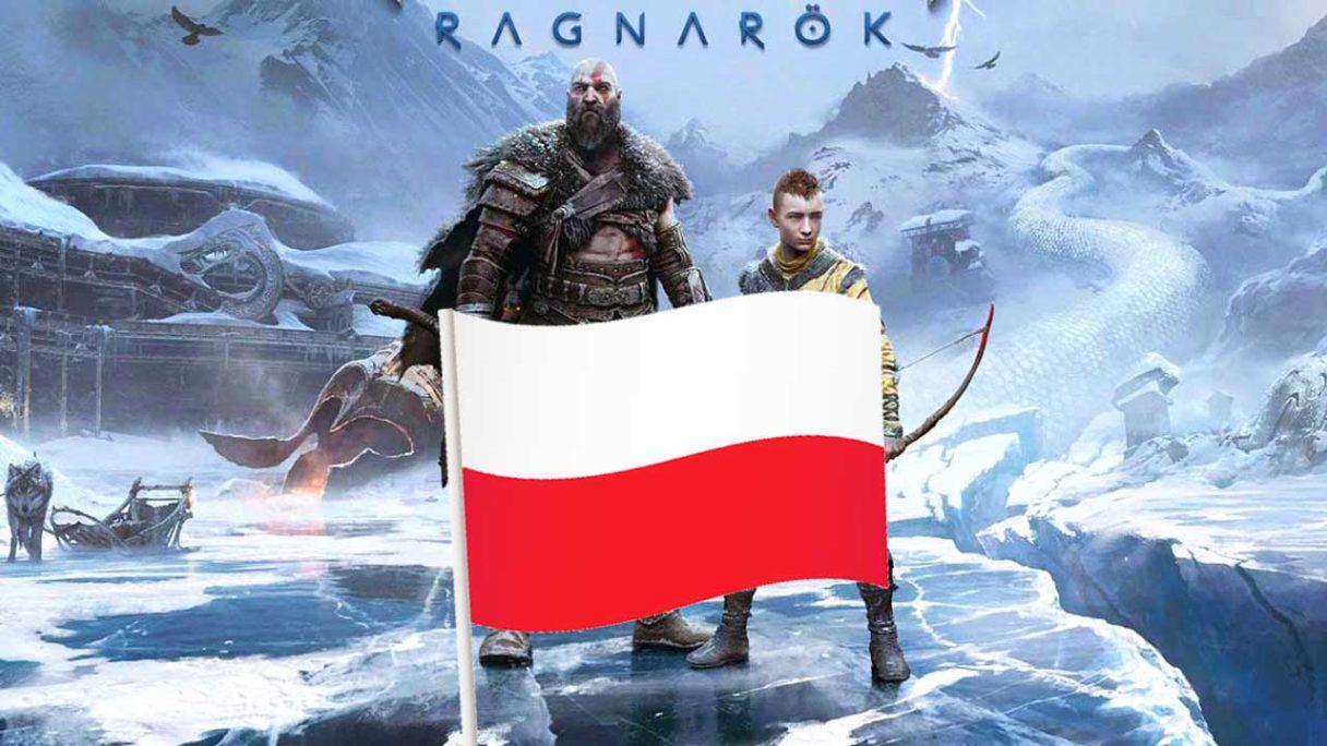 God of War Ragnarok z flagą Polski