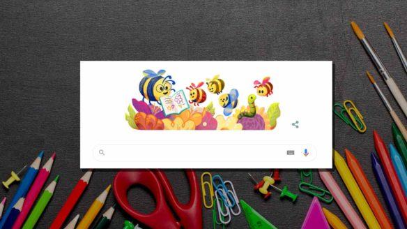Google Doodle - Dzień Edukacji NArodowej