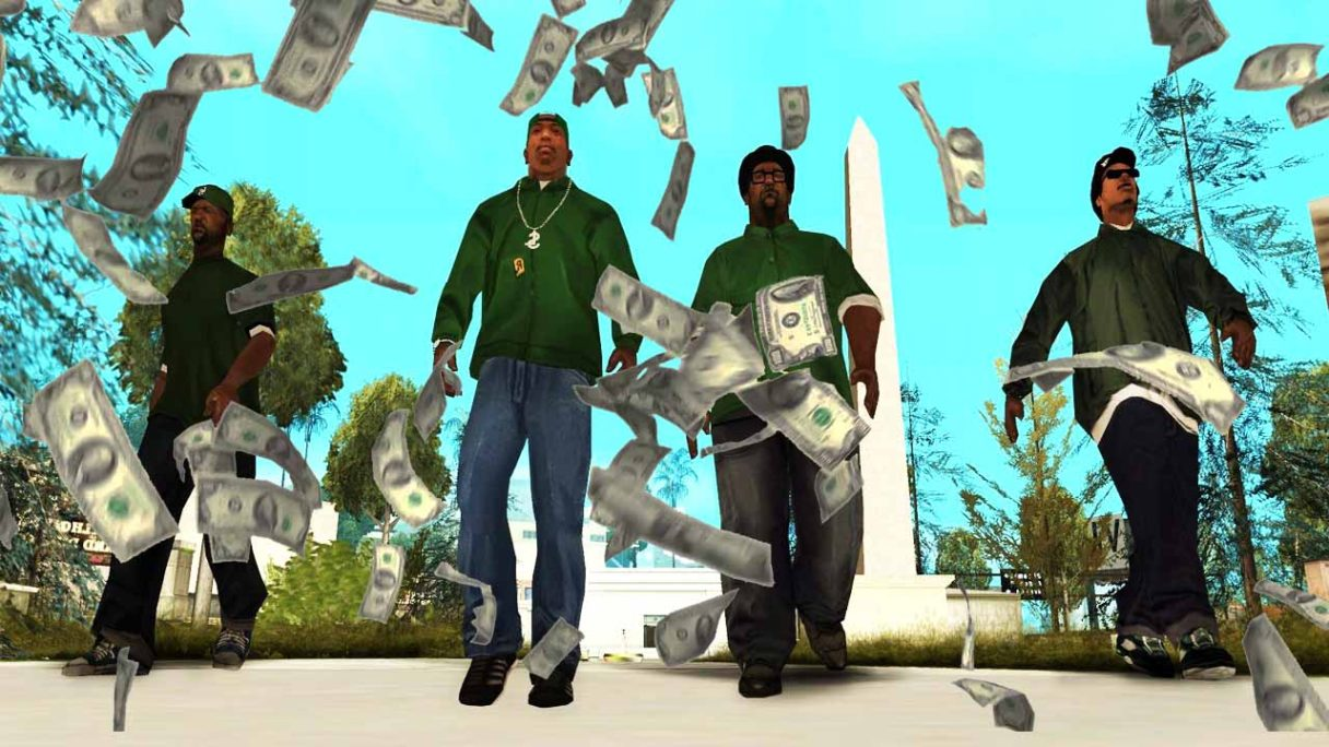 GTA San Andreas i pieniądze z nieba