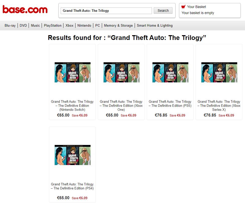 GTA: The Trilogy – The Definitive Edition w sklepie Base