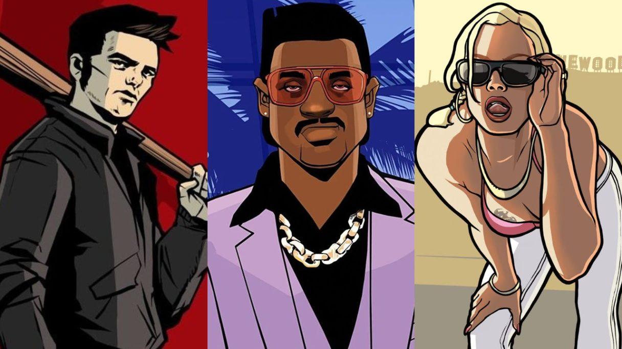 GTA Trilogy The Definitive Edition - postacie z okładek gier ze zbiorówki - PG