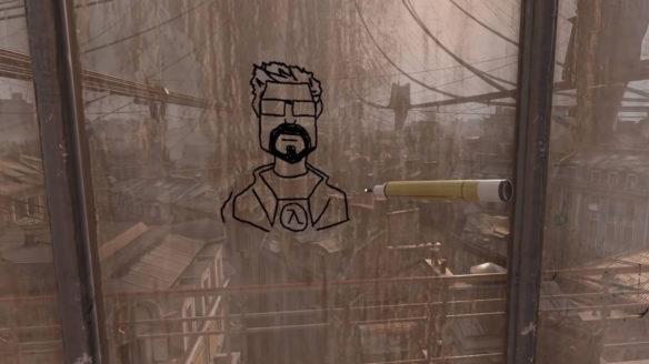 Half Life Alyx - rysowanie flamastrem - No VR - PG