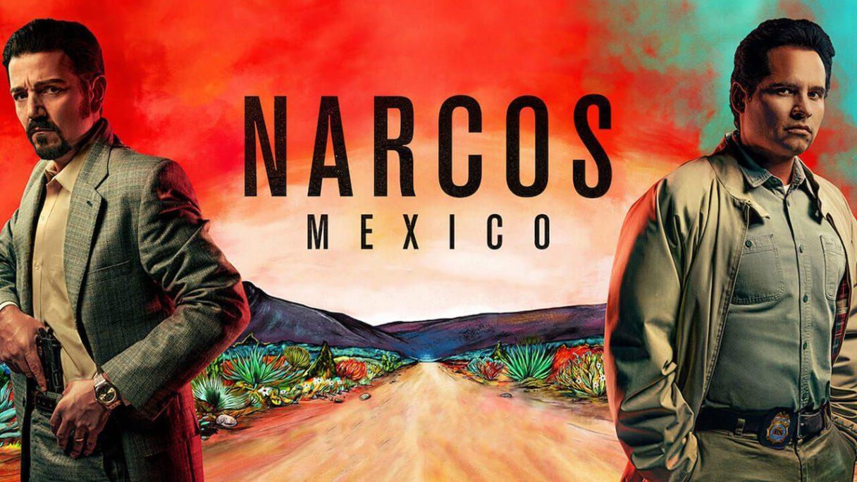Fragment plakatu promocyjnego serialu Narcos: Meksyk