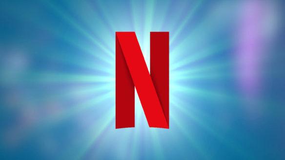 Netflix - logo na niebieskiej supernowie