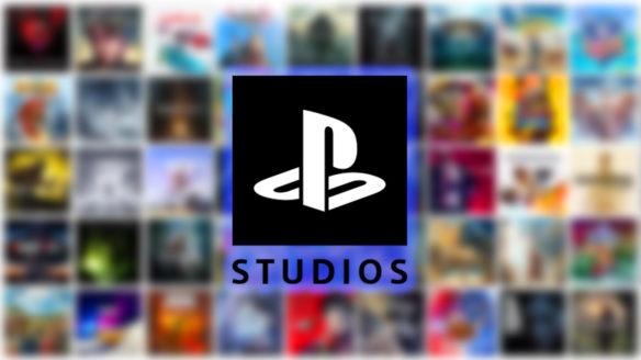 PlayStation Studios - logo na tle gier