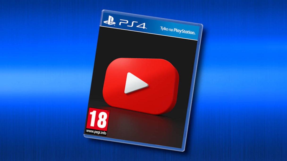 PS4 - aplikacja YouTube na płycie - PG