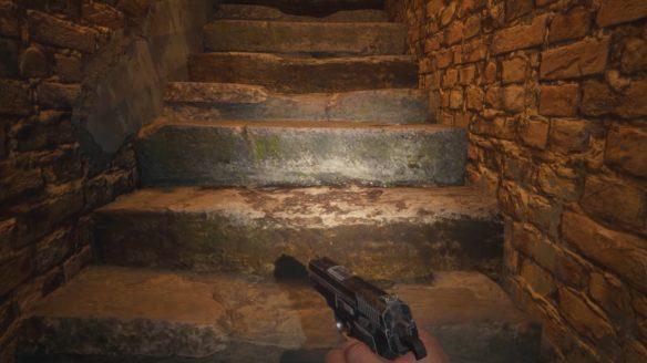 detale z gier RE Village schody